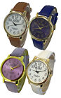 Mabz London Soft Leather Strap & Big Numbers Dial Ladies Watch - 15 Colours