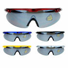 Mens X Large Warp Around Half Rim Cycling Style Sports Sunglasses