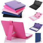 """New USB Keyboard Leather Folio Stand Case Cover For Samsung Android 8"""" Tablet PC"""