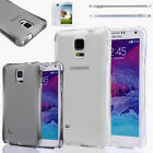 Soft TPU Transparent Protective Case Slim Cover Skin For Samsung Galaxy Note 4