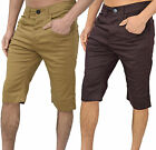 Mens Designer Arrested Skinny Tapered Chino Stretch Shorts Bottoms Pants Legend
