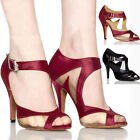 Women Satin Ballroom Salsa Latin Dance Shoes Tango Heeled One Pair Shoe  Gift
