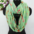 Fashion Women's Cute Colorful Mustache Print Soft Casual Long/Infinity Scarf New