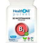 Purest Vitamin B3 Nicotinamide 500mg Capsules | Health4All No-flush Niacinamide £7.99 GBP on eBay