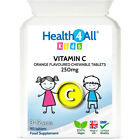 Health4All Kids Vitamin C 250mg Chewable Tablets Orange Flavour   3 to 12 years