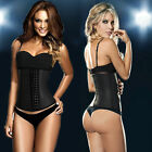 Women Sport Latex Waist Trainer Cincher Steel Boned Corset Shapewear