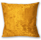 Mv05a Old Gold Diamond-Crushed Velvet Cushion Cover/Pillow Case *Custom Size*