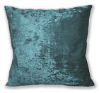 Mv18a Dp. Teal Blue Diamond Crushed Velvet Cushion Cover/Pillow Case Custom Size