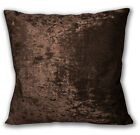 Mv32a Silver Brown Diamond Crushed Velvet Cushion Cover/Pillow Case Custom Size