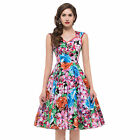 New Sexy Vintage Petticoat ROCKABILLY Floral Swing 50s Pinup Clubwear mini Dress