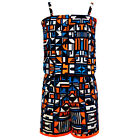Girls PlaySuit Kids Geometrical Print Jumpsuit Summer Dresses Outfit 7-13 Years
