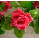 8.2ft Artificial Rose Silk Flower Rattan Vine Ivy For Wedding Arches Decoration