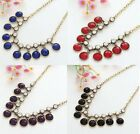 Fashion Resin Bead Gold Plated Lady Charm Chain Party Bib Choker Necklace 2015