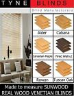 """SUNWOOD with cords venetian blinds - 50mm 2"""" slat made to measure wooden blinds"""