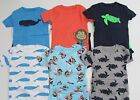 Carters Boys Pajamas Size 12 18 24 Month 2T 3T 4T 5T Nwt Snug Fitting 2 Pair