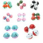 5/25pc Hot Christmas Jingle Bells Charms Pendants Beads Findings Multi-Purpose J