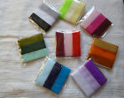 3 x 1 metres of 23 mm Organza Sheer Ribbon in 3 Different Colours. 22 Colours.