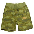 Poler Stuff Men's Cozy Stuff Sweatshorts Green Camo Camping/Camp Vibes
