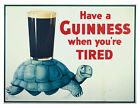 Vintage Ad Have a Guinness When You're Tired Print A96