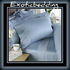 1000 Thread Egyptian Cotton sheet Set - Blue Plain