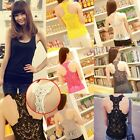 Fashion Sexy Women Sleeveless Hollow Lace TOPS Camisole Casual Slim BLOUSE VEST