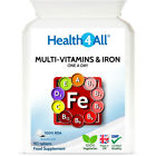 Health4All Multi-Vitamins & Iron One a day Tablets | 100% RDA | IMMUNE & ENERGY £4.69 GBP on eBay
