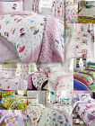 Girls Childrens Quilt Duvet Cover & Pillowcase Bedding Sets Or Matching Curtains