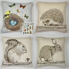 Wildlife Nature Countryside Cushion Covers Or Complete Cushions One Pair (2)