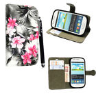 SAMSUNG GALAXY S3 S III MINI i8190 PU LEATHER FLIP CASE COVER + GUARD + STYLUS <br/> *** Free Screen Protector Cleaning Cloth and Stylus ***