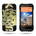 For HTC Desire 510 Case Hybrid Heavy Duty Stand Cover