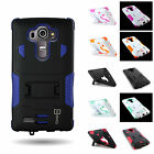 Heavy Duty Hybrid with Kickstand Protective Phone Cover Case for LG G4 (2015)