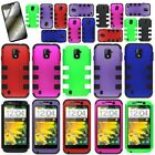 For ZTE Source N9511 Majesty - Skin Hard Layer Hybrid Case