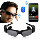 Wireless Bluetooth SunGlasses Headset Headphones Handfree For iPhone Samsung HTC