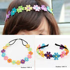 European American Stylish Kids Adults 2 Styles Colorful Flower Lace Hair Band