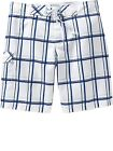 NWT Old Navy Men's Blue & White Plaid Board Shorts Swim Trunks U Pick Size! NEW