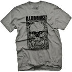 Men's Fifty5 Clothing Illuminati Pigment Dye T-Shirt Earth Gray Skull