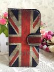 HOT Retro Union Jack UK Flag Flip Pouch Leather Case for HUAWEI SONY card holder