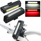 Bicycle Bike Front Rear USB Rechargeable LED Light Taillight 6 Modes 100LM New