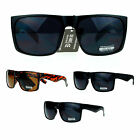 SA106 Mens Rectangular Flat Top Mobster Gangster Skater Plastic Sunglasses