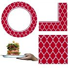 324 PCS! STURDY! HEAVY DUTY CASE 108 PLATES & 216 NAPKINS  ~  RED & WHITE
