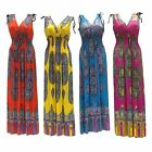 4-Pack Summer Maxi Dresses Hot Pink Teal Orange Yellow Paisley Long Sundress
