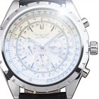 New 2015 Fashion Men Analog Classic Silver Automatic Mechanical Date Watch ss2