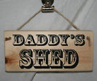 DAD DADDY'S SHED Gift Home Office Hanging Door Sign Plaque Rustic Wood Decor