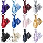 Mens Satin Wedding Ruche Cravat Tie with hankys, Cravat for Mens, Mens Cravats