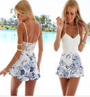 Women Ladies Clubwear Flora Playsuit Bodycon Party Jumpsuit&Romper Dress Shorts