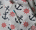 "Good Quality 1/2 meter by the yard white anchor 100% Cotton Fabric 43.3"" xx"