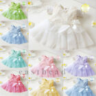 Baby Toddler Girls Princess Tutu Lace Bow Flower Floral Pageant Party Dress HOT