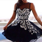 Vintage Sexy Tulle Princess Summer Cocktail Party Evening Sundress Gown Dresses