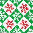 Snowflake Red/Green Tissue Paper 500mm x 750mm Multi Listing
