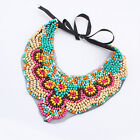 Women Bohemia Necklace Color beads Handmade Jewelry Choker Bib Charm Necklace